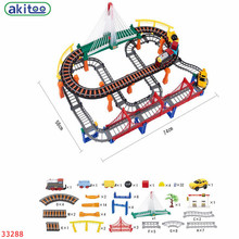 New arrival akitoo Thomas 33288 Double Layer Combination Track With Rainbow Viaduct Suit Boys And Girls Puzzle Toys(China)