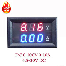 LED Amp Dual Digital Volt Meter Gauge 0.28'' DC 0-100V 0-10A Digital Voltmeter Ammeter Tester voltimetro LED Dual Display Amp