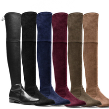 Buy 2017 New Plus Size Women Knee Boots Thigh High Boots Ladies Fashion Warm Chunky Heel Boots Snow Shoes for $29.20 in AliExpress store