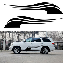 2 X Beautiful Streamers The Wind Swing Happy Advancing Artistic Streak Car Sticker for Truck Trailer Kayak Vinyl Decal 9 Colors