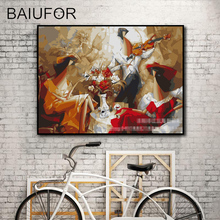 BAIUFOR music story impressionist DIY coloring & painting by numbers digital painting on canvas hand painted art home decor