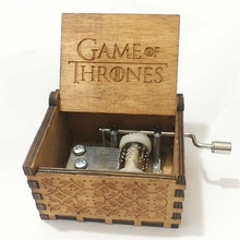 Wooden hand crank Harri Potter Music Box Harri Potter Game of thrones Star wars theme Wooden Music Box Learning Education toys(China)