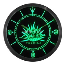 nc0112 Cabo Wabo Tequila Bar Beer Neon Sign LED Wall Clock