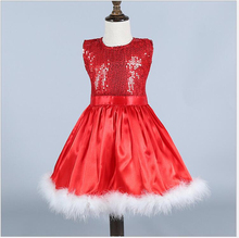 Girls Dress Red Beauty Pageant Dresses for Baby Girls Ball Gown Tutu Princess Dress for Christmas Party and Wedding Clothing(China)