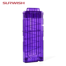Surwish Soft Bullet Clips For Nerf Toy Gun 12 Bullets Ammo Cartridge Dart for Nerf Gun Clips - Purple Color(China)