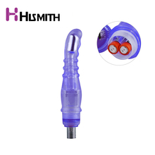Buy HISMITH New Vibrating Attachment Use AAA Battery Penis Automatic Sex Machine Length 23cm Width 3.5cm Dildo Vagina Stimulate