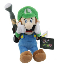 18CM New Arrival Super Mario Luigi Plush toys horror Luigi With Tag dolls Mansion 2 Luigi Plush Toys For Christmas Gift 1pcs(China)