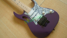 new arrival purple electric guitar  star inlay free shipping in stock reverse headstock steve via black hardwares