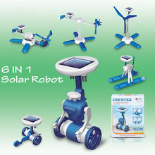 DIY solar toys 6 in1 solar robot New Baby educational toys Kids Novelty solar robots Car For Children Gifts