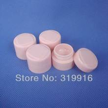 5g X 50 high quality pink double wall round empty cosmetic cream jars bottles containers ,small plastic pot , sample PP tin