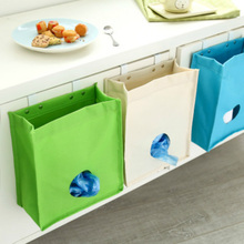 Doreen Box Extract Style Storage Bags for Sundries Garbage Bag Kitchen Behind Door Hanging Bags Storage Organizer with Hooks 1PC