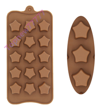 star shaped Jelly fondant Cake chocolate Mold Silicone tool Baking Pan 2542