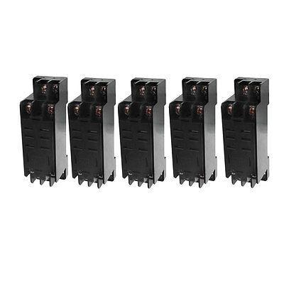 DTF-08A 8 Pin Power Relay Base Socket DIN Rail Mount 5 Pcs<br><br>Aliexpress