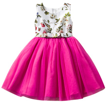 Baby Girl Tutu Party Dress Children Frocks Designs Kids Clothes Summer Flower Girl Dresses For Weddings Little Girl School Wear