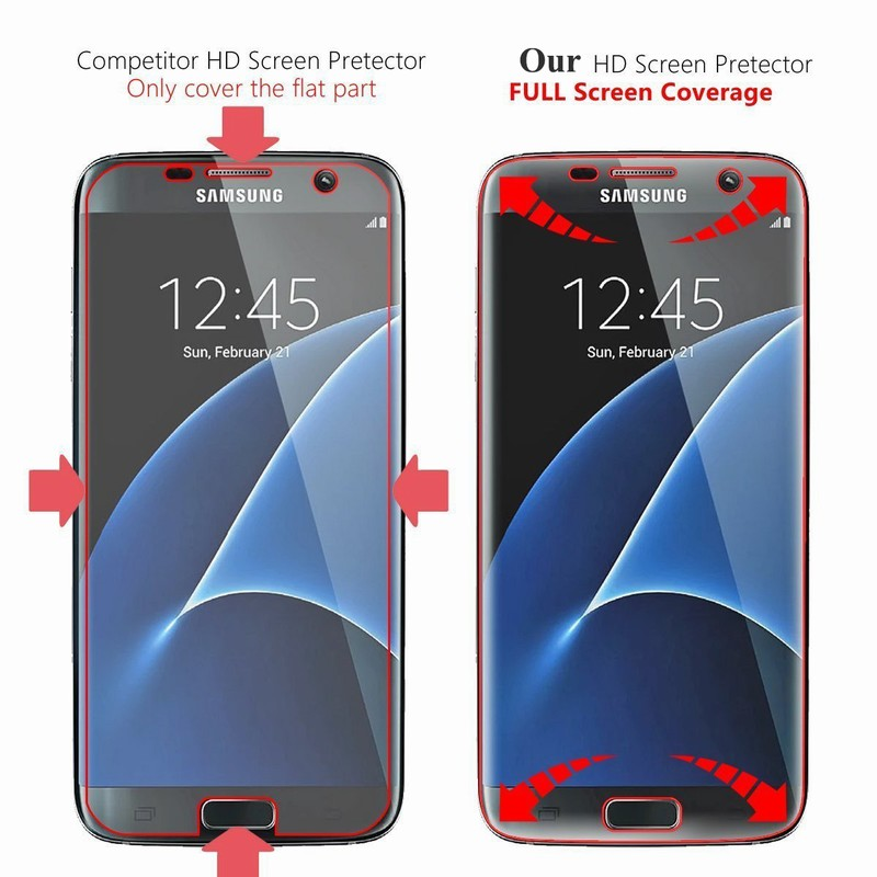 10PCS NYFundas Full 3D Coverage PET Film Curved Screen Protector for Samsung Galaxy S7 Edge S6 S8 Plus S8plus Screenprotector (4)