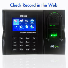 Web Time Attendance Real Time Software Web IE Server Browse Records ZKTeco U560 Linux System ZK Employee Time Attendance(China)