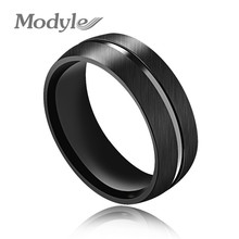2017 New Fashion Roman numerals black ring stainless steel cool men ring cocktail wedding jewelry wholesale(China)