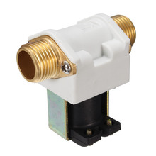 DC12V Copper Electric Solenoid Valve Normally Closed Solar Water Heater Accessories Durable in Use