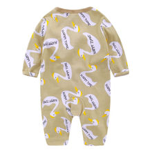 Autumn Spring Newborn kids Swan Romper Baby Boys Girls long sleeve Romper Jumpsuit Cotton Clothes Outfit Set
