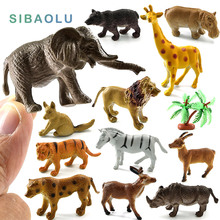 Simulation Forest animals models figures set toys Bear Deer Tiger Leopard Lion kangaroo Elephant Horses Rhinoceros plastic dolls(China)