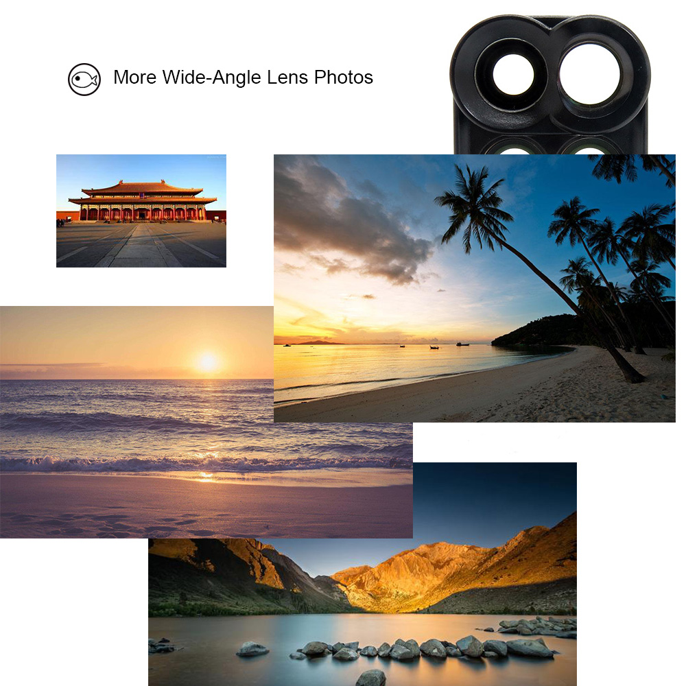 18 New Arrival Dual Camera Lens For iPhone X 8 Plus Fisheye Wide Angle Macro Lens For iPhone 7 Plus Phone Case Telescope Lens 6