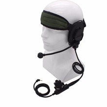 XQF HD03 Z Tactical Bowman Elite II Two Way Radio Headset with U94 PTT for Motorola TLKR T6 T9 T60 T80 T6200 MR350R MH230R Cobra