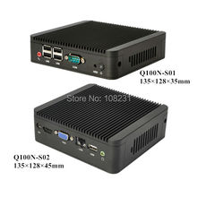 latest new FANLESS celeron 1037U smallest  mini pc  win 8 mini computer DHL Free shipping Qotom-Q100N