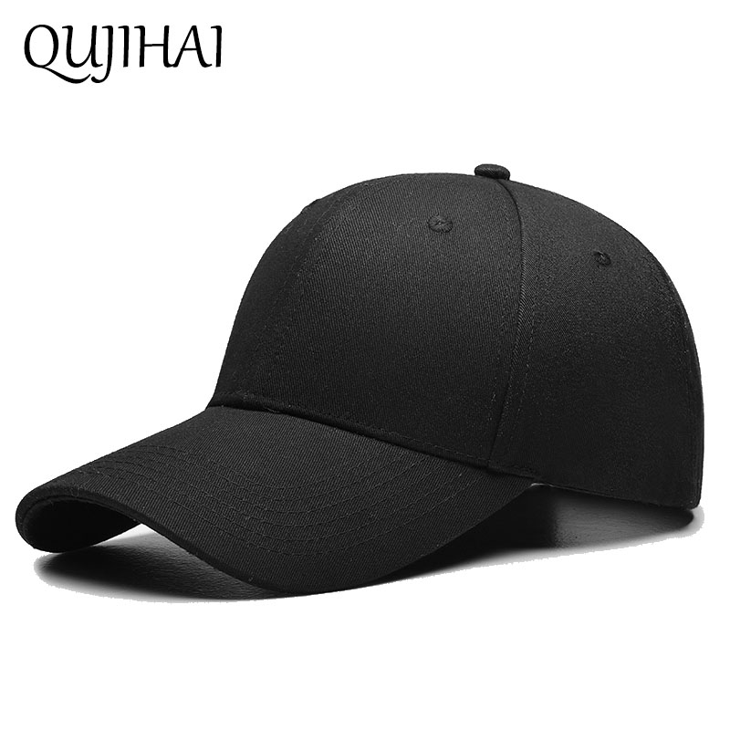 3bc07f3c985 QUJIHA Black Cap Solid Color Baseball Snapback Caps Cotton Casquette Hats  Fitted Casual Gorras Hip Hop Dad Hats Women Unisex