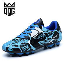 DQG Men Soccer Shoes Outdoor Training Football Shoes Spider Series Men Soccer Cleats Long Spikes Chuteira Futebol Sport Shoes