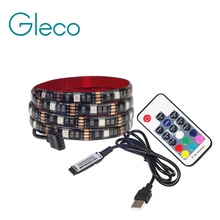 USB LED Strip Light 5050 RGB 1M 2M IP65 Waterproof TV Background Lighting LED Strip 5050 With RGB Controller(China)
