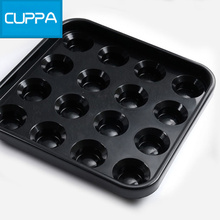 New Cuppa Pool Plastic 16 Holes Tray Billiard Table Ball Storage Holder Black China(China)