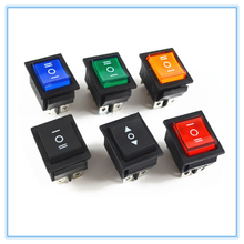 KCD4 Rocker Switch Power Switch 3 Position 6 Pins With Light 16A 250VAC/ 20A 125VAC(China)