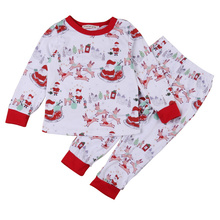 Christmas Children's Outfits Set Kids Baby Xmas Clothiing for Children Boy Girl Pajamas Set 2Pcs Sleepwear Nightwear Outfits Set