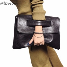 Hot Selling Women envelope clutch bag leather women Crossbody Bags for women trend handbag messenger bag female Ladies Clutches(China)