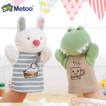 Metoo Doll Animals Hand Finger Puppet Boneca Lovely Cartoon Plush Dolls Baby Kids Interactive Toys Parent-child Game Brinquedo(China)