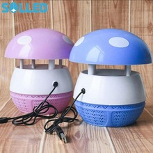 SOLLED 6LEDs Indoor Inhaled Mosquito Killer Lamp Photocatalyst Fly Insects Bug Killer Electronic Mosquito Repellent(China)