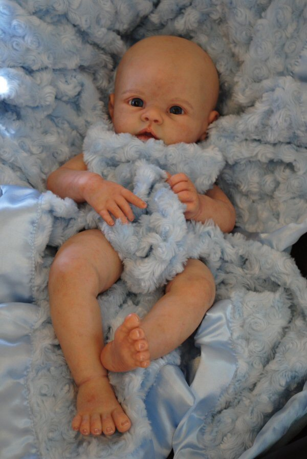 wholesale reborn doll kit  hotsale reborn supply doll kit  DIY blank kit soft  vinyl Krista<br>