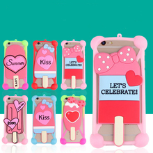 Fashion Cartoon Ring Girl Rabbit Ears Soft Silicone Case for qiku 360 Q5 Mobile Phone Cases Bumper Frame Accessories