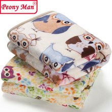 High Quality! Flannel Baby Blanket Newborn Faux Fur Super Soft Cartoon Blankets 80x100cm For Beds Thick Warm Kids Fleece Throw