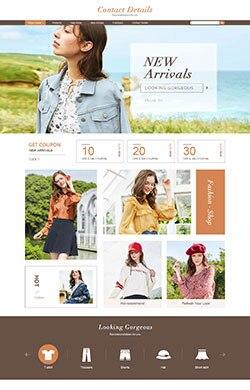 优悦视觉☆G245欧美时尚简约女装男装服装箱包三色风格