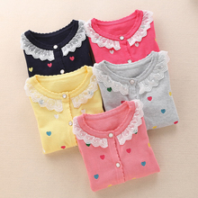 2016 new children's clothing 2-10 years girls fashion cotton cardigans children sweaters Y8348