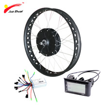 "Buy Powerful Electric Fat Bike Conversion Kit 48V 1000W 4.0 * 26"" 700C Fat Tire Hub Motor Wheel Snow Bike Bicycle Free for $441.61 in AliExpress store"