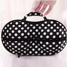 Brand new and high quality Polka Dot Protect Bra Underwear Lingerie Case Travel Bag Storage Box levert dropship 2jul12