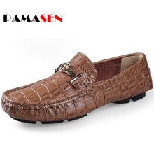 Buy PAMASEN New Spring Mens Casual Boat Shoes Luxury Fashion Moccasins Male Genuine Leather Flats Mens Driving Peas Shoes Loafers for $25.28 in AliExpress store