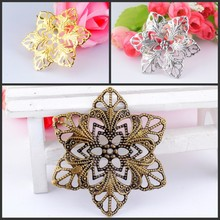Buy Free 10Pcs Filigree Flower Wraps Connectors Metal Crafts Decoration DIY Findings Connectors 57mm F1173 for $1.08 in AliExpress store