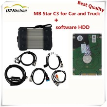 MB star C3 Star Diagnosis Star C3 Multiplexer Diagnostic Tool Real RS485 for Mercedes Benz All New rec Relay Star c3 with HDD