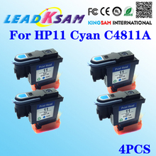 4PCS for HP11 Cyan C4811A Printhead for HP OfficeJet 9110 9130 1000 1100 1200 2200 2280 2300 For HP11