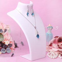 10pcs/set free shipping  fit both necklaces and earrings display bust design holder jewelry display stand display rack white