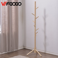 WFGOGO Nordic Home Furnishing Solid wooden Living Coat Racks Stands Scarves Hats Bags Clothes Shelf