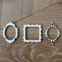 72pcs Wooden Mini Photo Frame Flourish Wood Crafts Wedding Party DIY Decorations Favors Crapbooking Card Craft Embellishments(China)